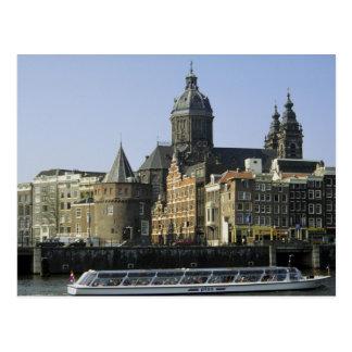 St. Nicolaaskerk y la torre de rasgones, Amsterdam Postal