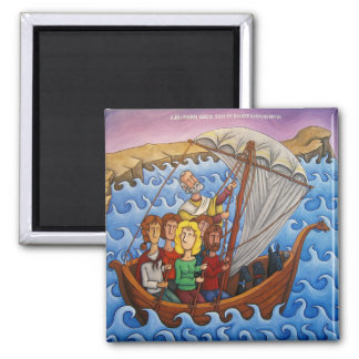 St. Nicolas miracle 2 Inch Square Magnet