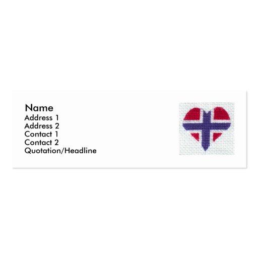 St noruego de Noruega del Nordic de la puntada de  Plantilla De Tarjeta De Negocio