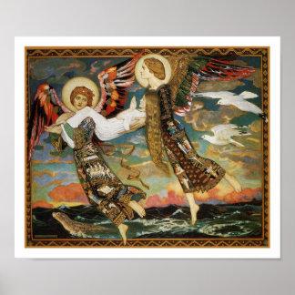 St. Novia llevada por los ángeles de Juan Duncan Póster