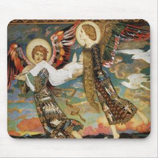 St. Novia llevada por los ángeles de Juan Duncan Tapete De Ratones