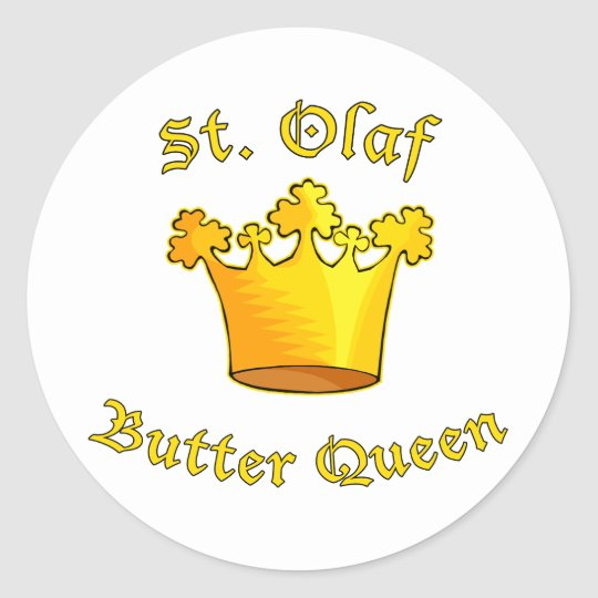 St. Olaf Butter Queen Products Classic Round Sticker