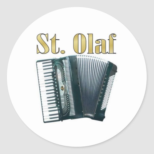 St. Olaf Gear! Classic Round Sticker