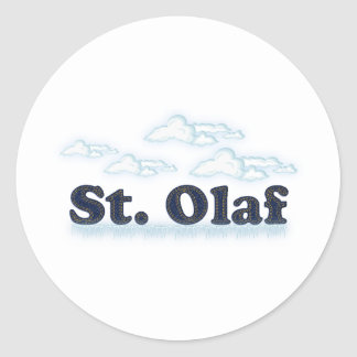 St. Olaf Pegatina Redonda
