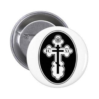 St Olga Orthodox Cross button