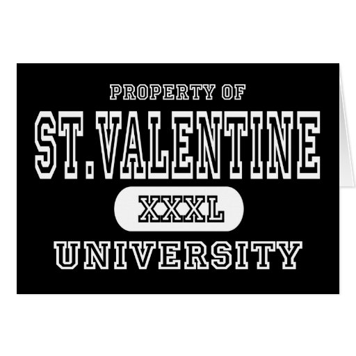 St. Oscuridad de la universidad de la tarjeta del