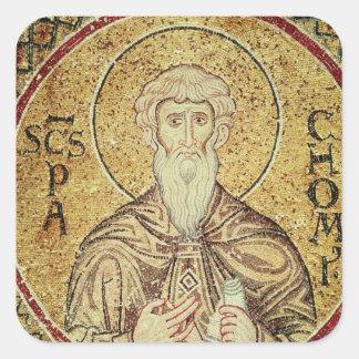 St. Pachomius Pegatina Cuadradas Personalizadas