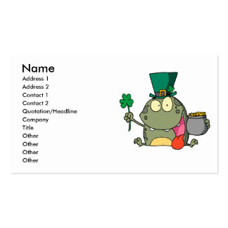 st paddy patty day froggy frog business card