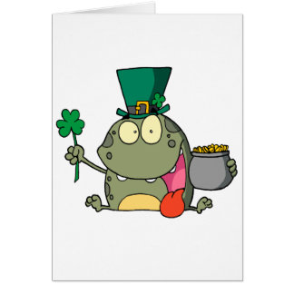 st paddy patty day froggy frog cards