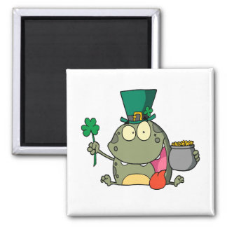 st paddy patty day froggy frog 2 inch square magnet