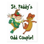 St. Paddy's Odd Couple Postcards