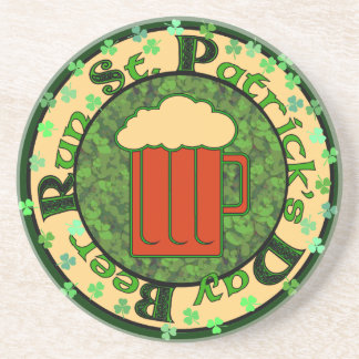 St Paddy's Beer Run Drink Coaster