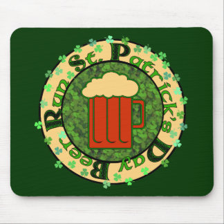 St Paddy's Beer Run Mouse Pad