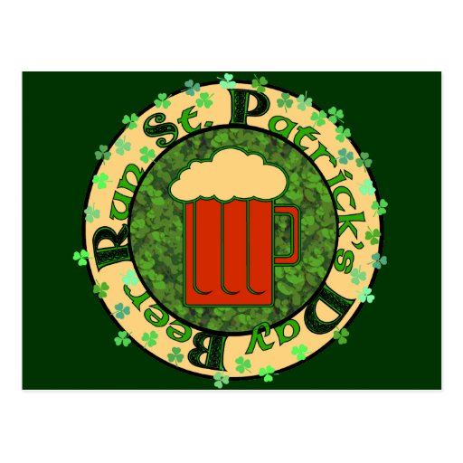 St Paddy's Beer Run Postcard