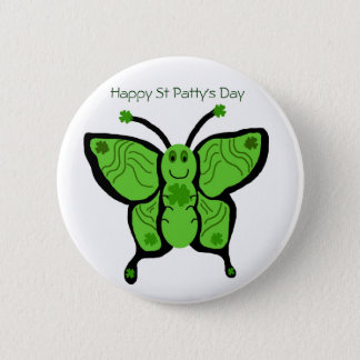 St Paddys butterfly, Happy St Patty's Day button