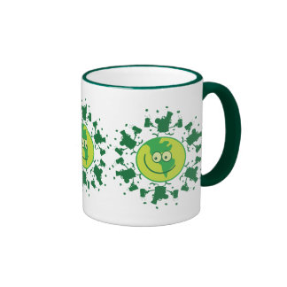 St. Paddy's Day Beer Toast with Leprechauns Ringer Mug
