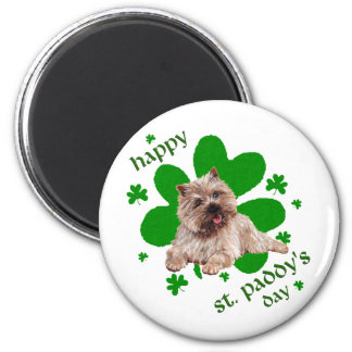 St Paddys Day Cairn Terrier 2 Inch Round Magnet