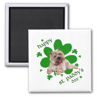 St Paddys Day Cairn Terrier 2 Inch Square Magnet