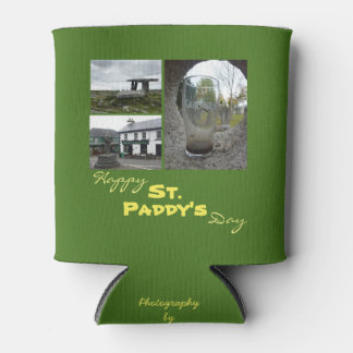 St. Paddy's Day Collage Can Cooler