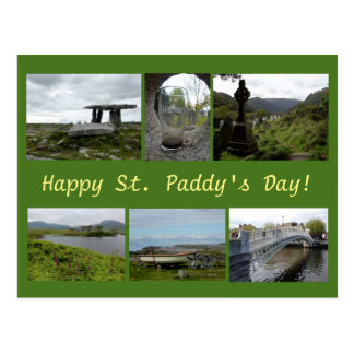 St. Paddy's Day Collage Postcard