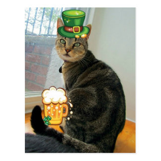 St. Paddy's Day Indigo Post Card