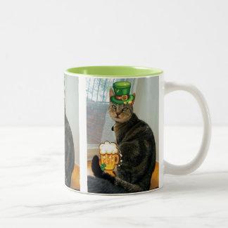 St. Paddy's Day Indigo Two-Tone Coffee Mug