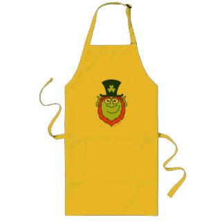 St Paddy's Day Leprechaun Smiling Long Apron