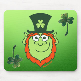 St Paddy's Day Leprechaun Smiling Mouse Pad