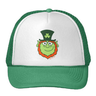 St Paddy's Day Leprechaun Smiling Trucker Hat