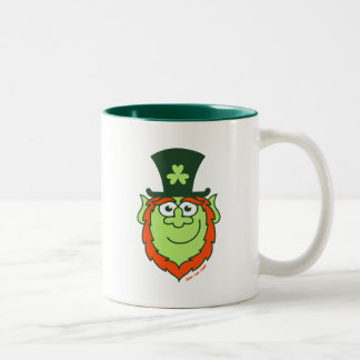 St Paddy's Day Leprechaun Smiling Two-Tone Coffee Mug