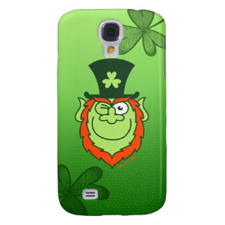 St Paddy's Day Leprechaun Winking and Smiling Samsung Galaxy S4 Cover