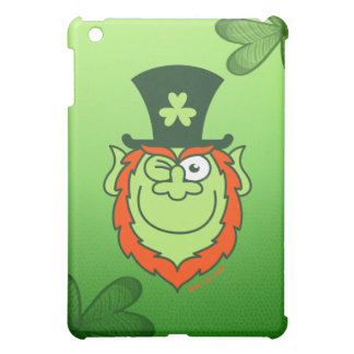 St Paddy's Day Leprechaun Winking and Smiling iPad Mini Cases