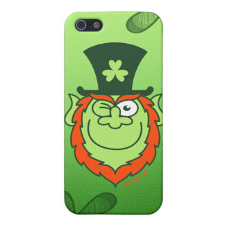 St Paddy's Day Leprechaun Winking and Smiling iPhone 5 Covers