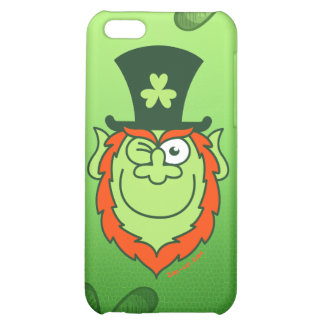 St Paddy's Day Leprechaun Winking and Smiling iPhone 5C Cover