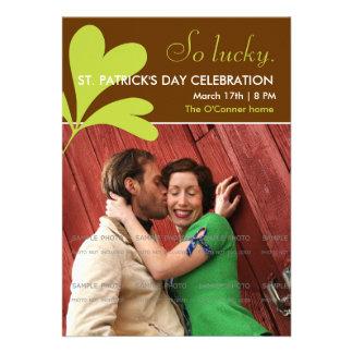 St. Paddy's Day Party Invitations Shamrock   Photo