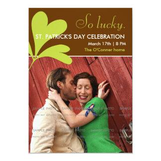 St. Paddy's Day Party Invitations Shamrock | Photo