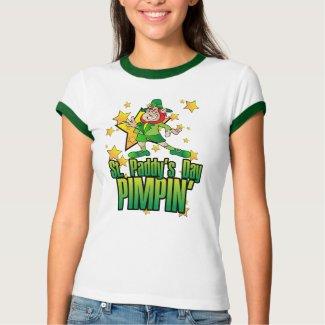 St Paddys Day Pimpin $23.95 Ladies Ringer shirt