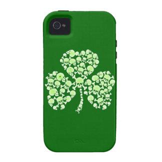 St Paddy's Day Shamrock Skulls iPhone 4 Cases