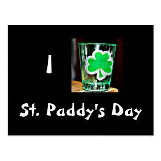 St. Paddy's Day Shotglass Postcard