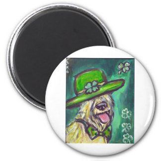st paddys day sir wheaten 2 inch round magnet