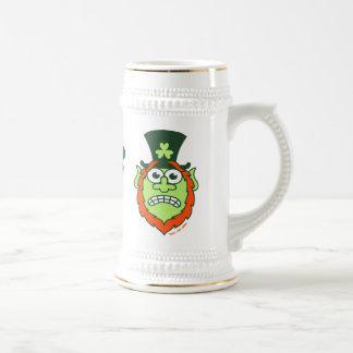 St Paddy's Day Stressed Leprechaun Beer Stein