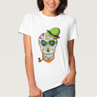 St Paddy's Day Sugar Skull T Shirt