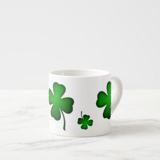 St Paddy's Hat and Shamrocks Espresso Mug