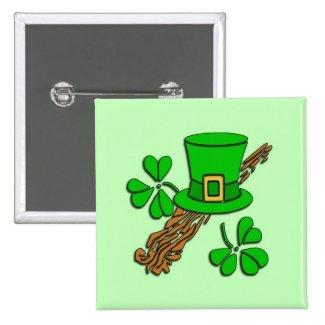 St Paddy's Hat and Shamrocks Pins