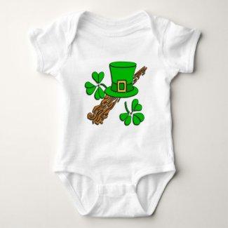 St Paddy's Hat and Shamrocks Shirts