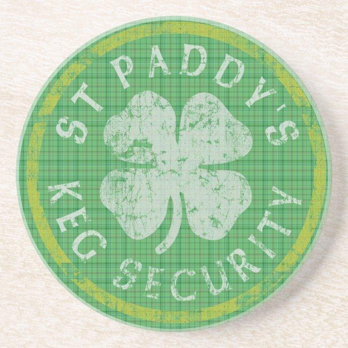 St Paddys Keg Security Coaster
