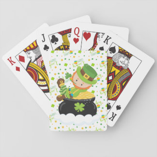 St Paddy's Leprechaun Playing Cards