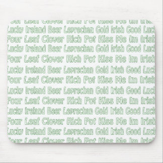 St Paddys Words Mouse Pad