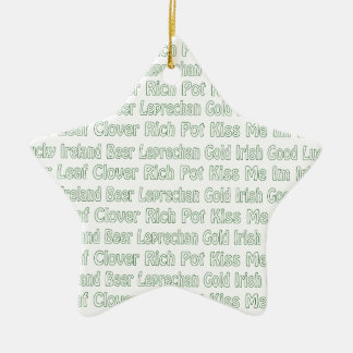 St Paddys Words Ornaments