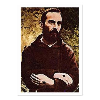 St. Padre Pio de la tarjeta del rezo de Pietrelcin Tarjeta De Visita
